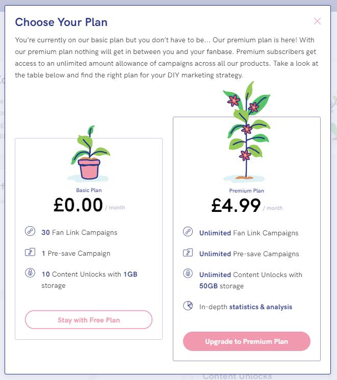 PUSH fm pricing plan