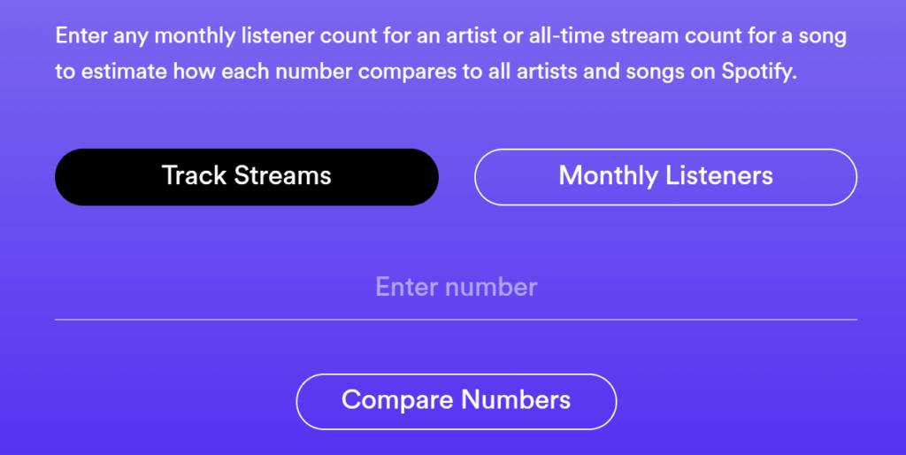 Spotify Loud & Clear track calculator