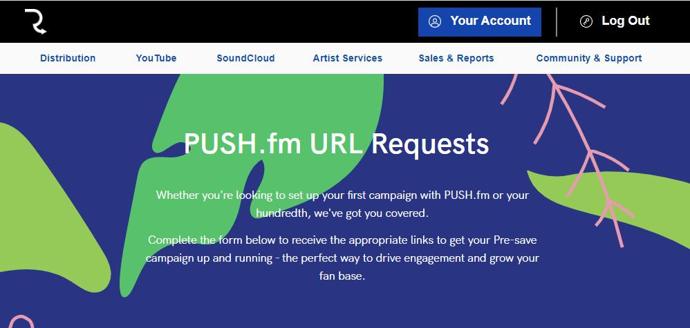 PUSH URL form