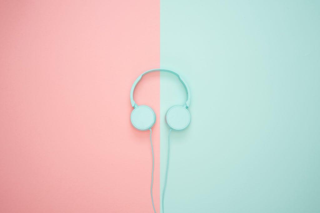 Pexels headphones pink and blue