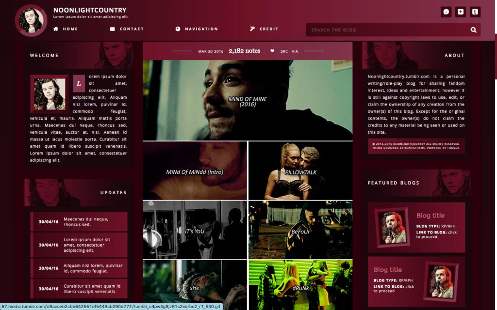 Tumblr profile