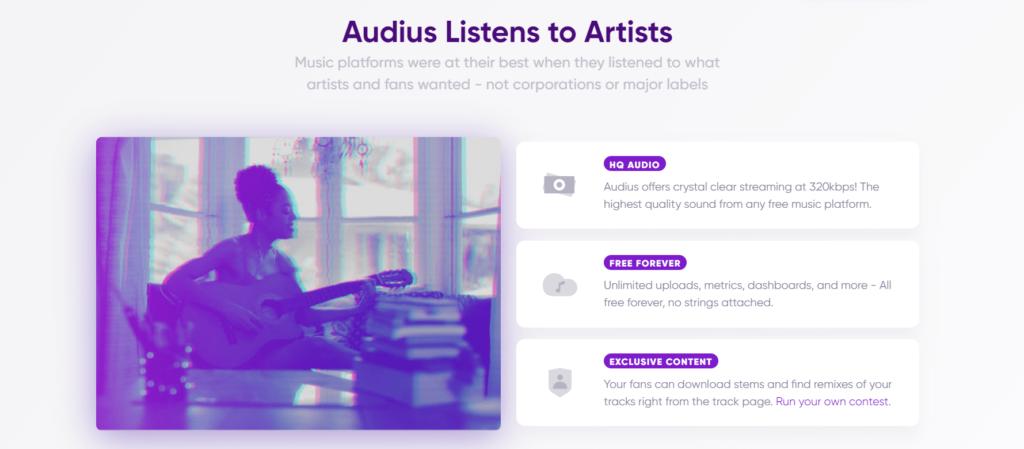 Audius website