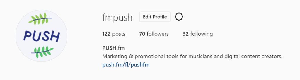 PUSH fm Instagram