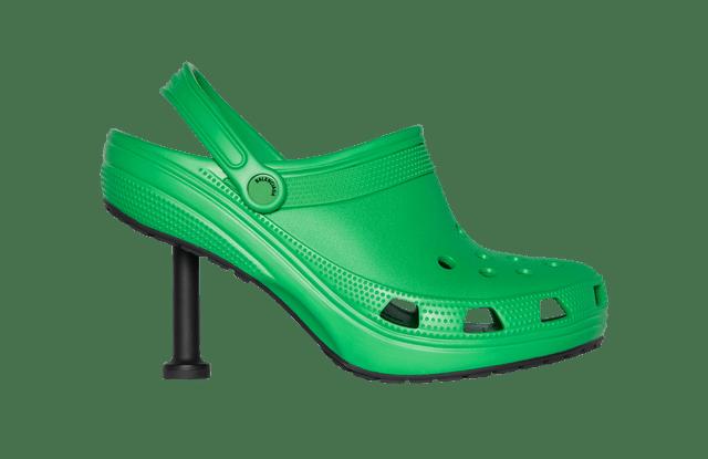 Balenciaga styled heeled Crocs