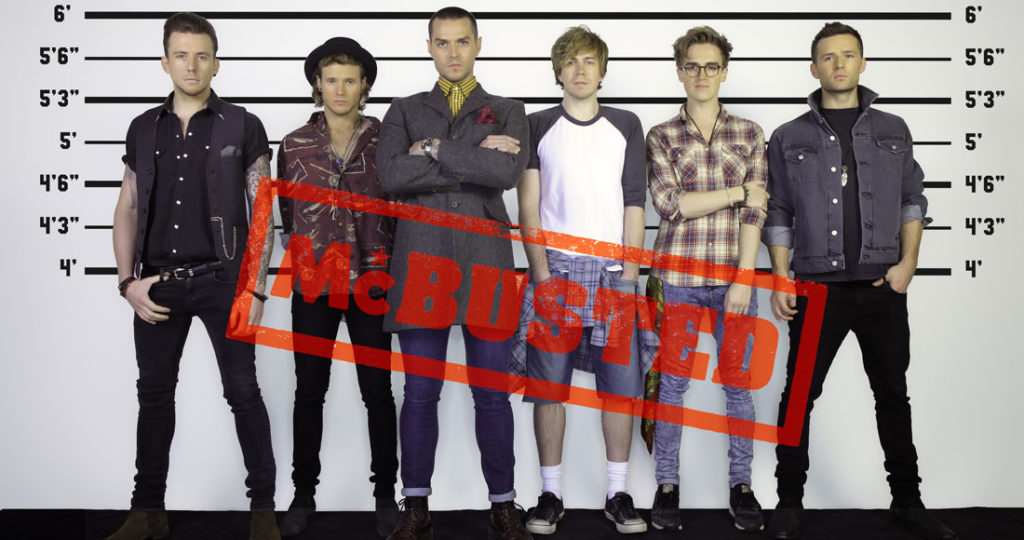 McBusted image from Official Charts
