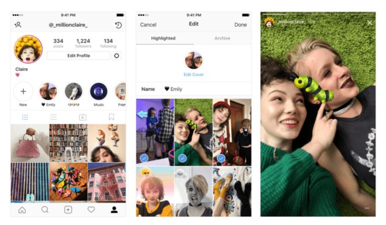 Instagram highlight examples