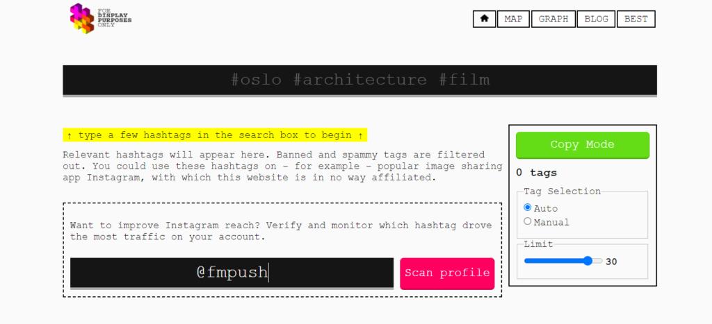 Display Purposes website
