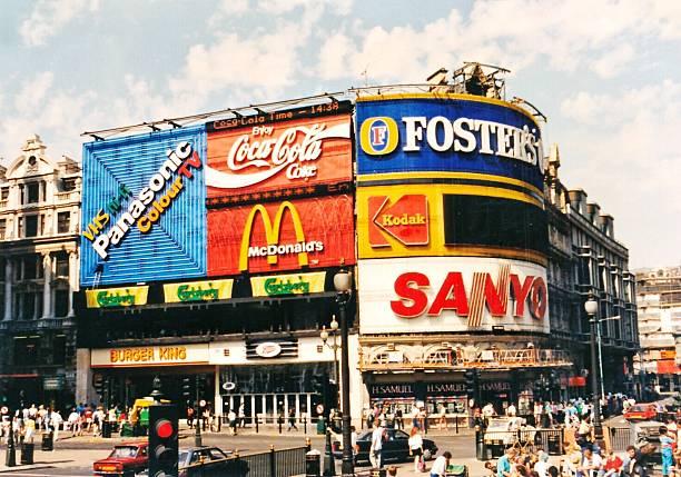 Brand logos on billboards
