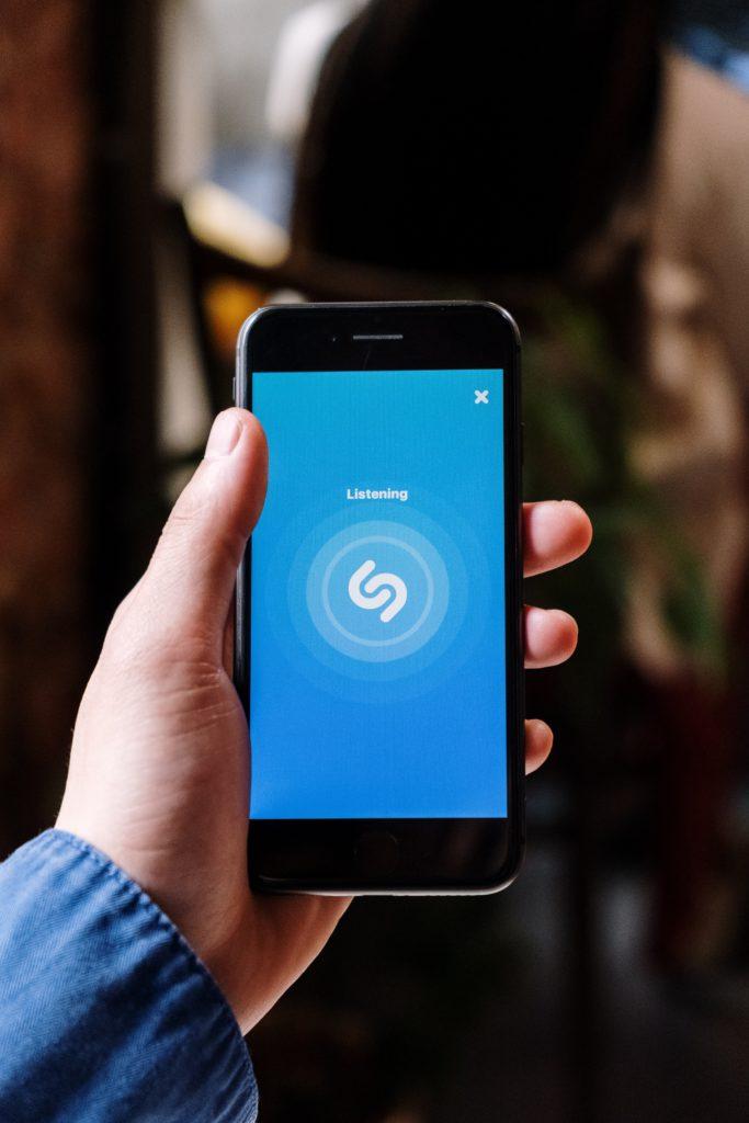 Shazam app via Pexels