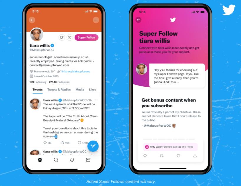 Super Follows content example